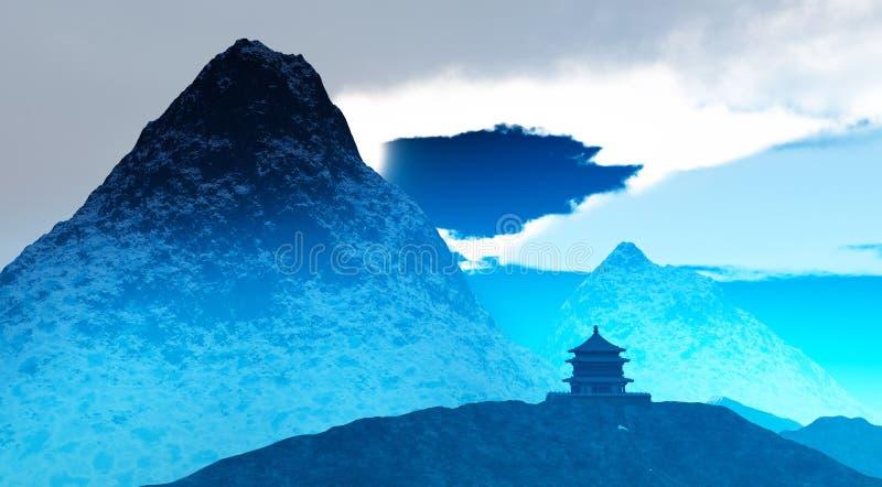 Tempiale buddista nel Tibet fotografia stock libera da diritti