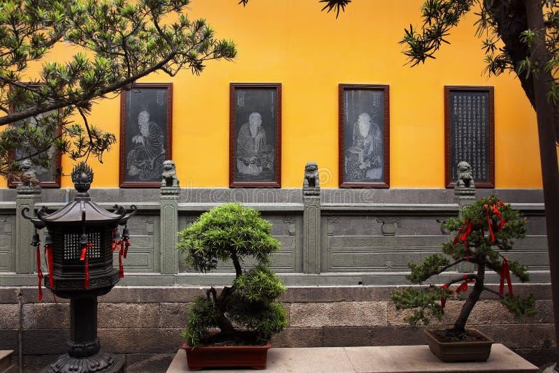 Tempiale buddista Schang-Hai del Buddha della giada acquaforte immagini stock libere da diritti