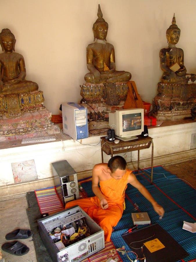 Tempiale buddista, Tailandia. fotografia stock libera da diritti