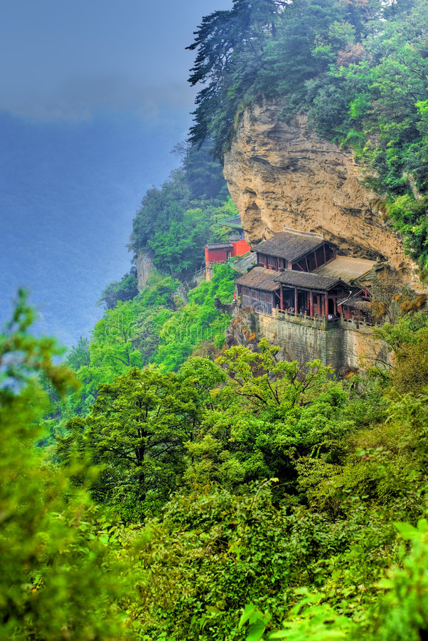 Tempiale cinese della montagna fotografia stock