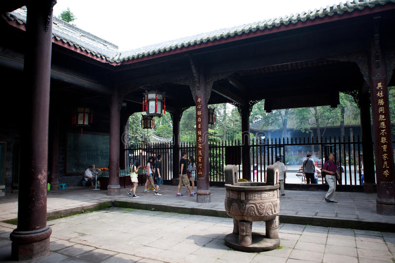 Tempiale commemorativo antico Sichuan Cina di Zhuge Liang fotografia stock