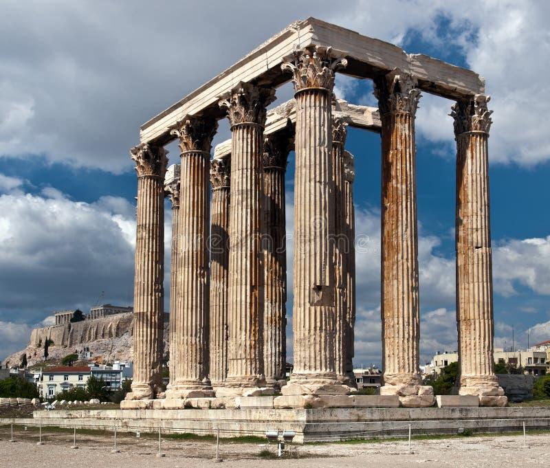 Tempiale degli Zeus fotografia stock