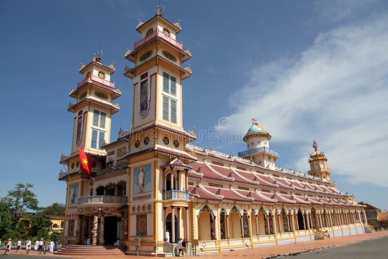 Tempiale del cao Dai nel Vietnam immagine stock