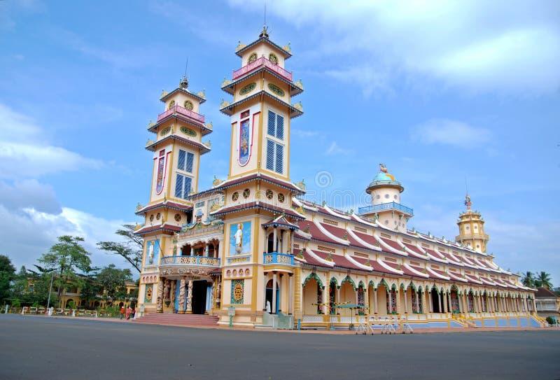 Tempiale del cao Dai nel Vietnam immagini stock libere da diritti