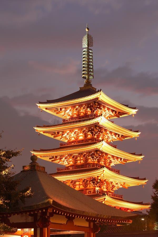 Tempiale del Giappone fotografia stock