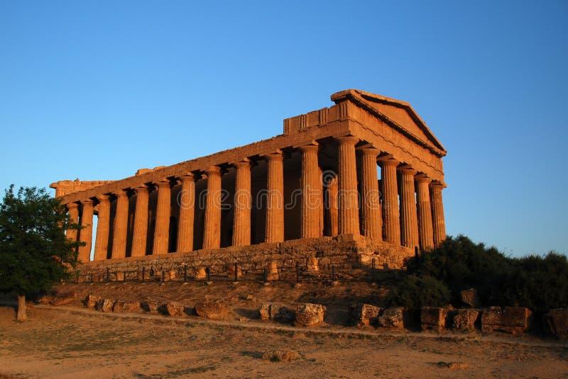 Tempiale del greco antico fotografia stock