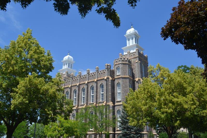 Tempiale del Logan Utah immagine stock