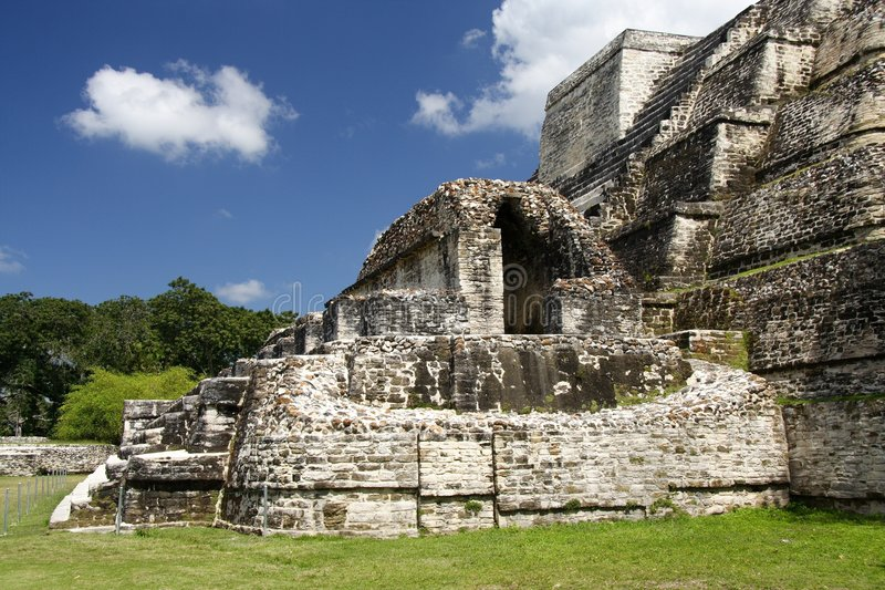 Tempiale del Maya fotografie stock libere da diritti