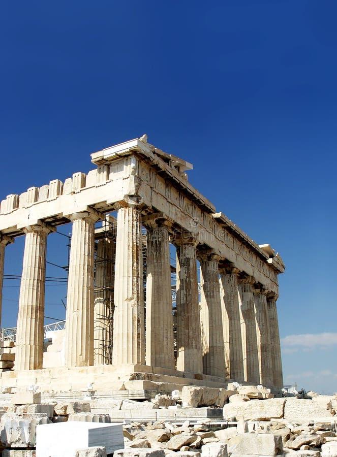 Tempiale del Parthenon fotografie stock