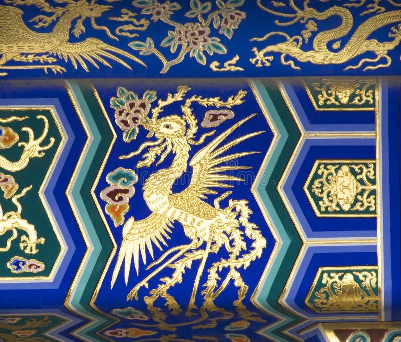 Download Tempiale Del Particolare Di Phoenix Di Cielo Pechino Cina Fotografia Stock - Immagine di città, china: 7300944