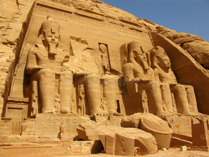 Tempiale del Pharaoh Ramses II in Abu Simbel, Egitto immagine stock