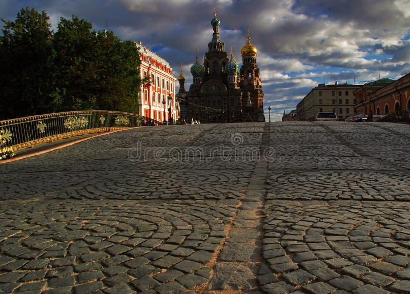 Tempiale del salvatore su anima a St Petersburg fotografia stock