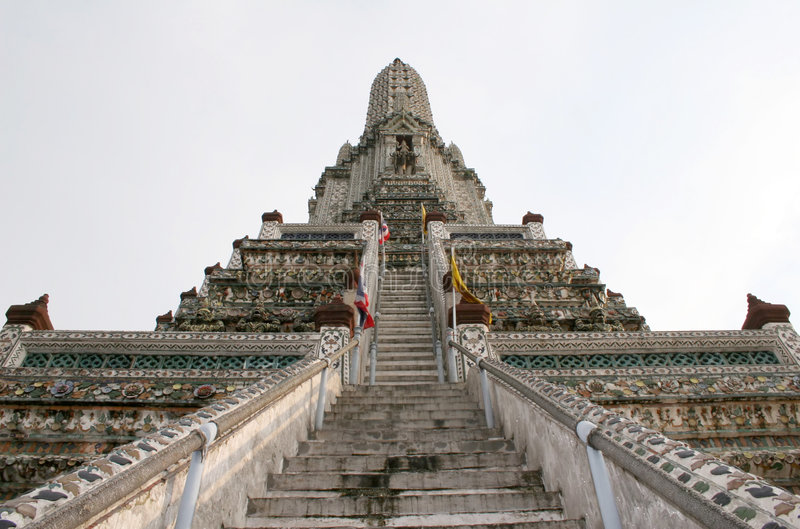 Tempiale dell'alba - Tailandia fotografia stock