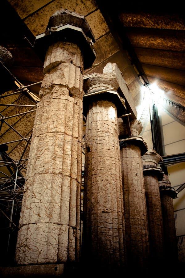 Tempiale dell'Apollo di Epicurius fotografie stock libere da diritti