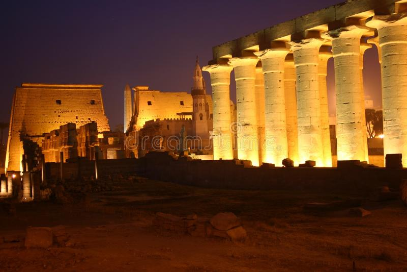 Tempiale dell'Egitto Luxor fotografie stock libere da diritti