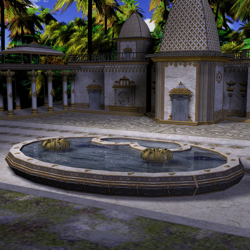Tempiale dell'indiano di fantasia illustrazione vettoriale