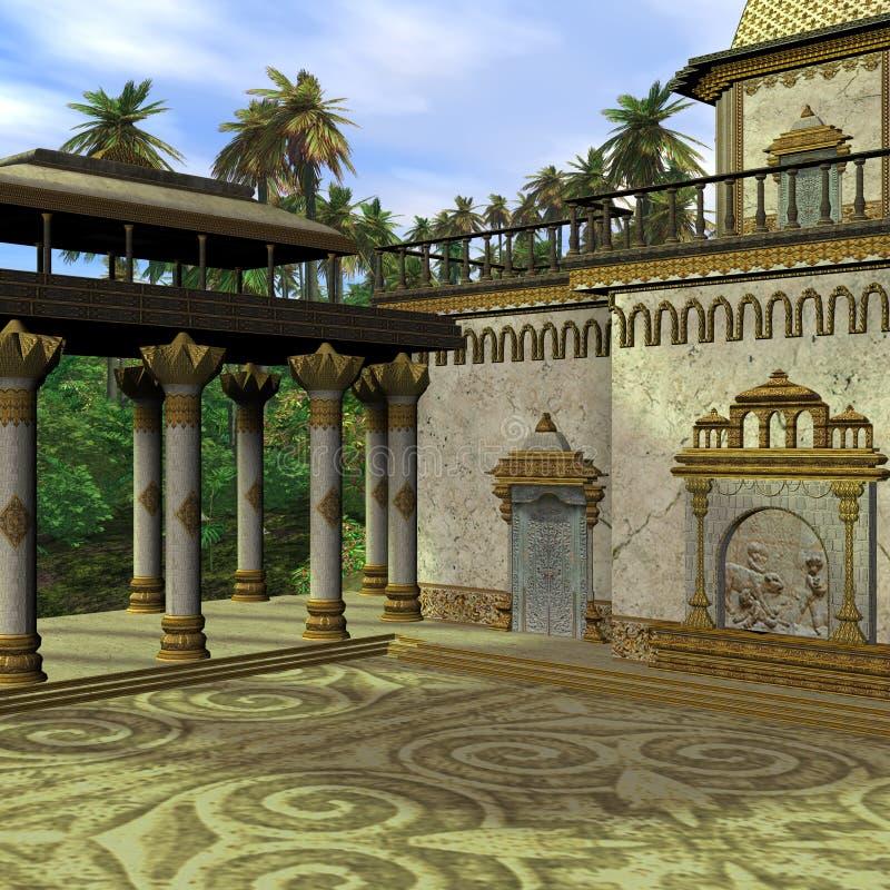 Tempiale dell'indiano di fantasia royalty illustrazione gratis