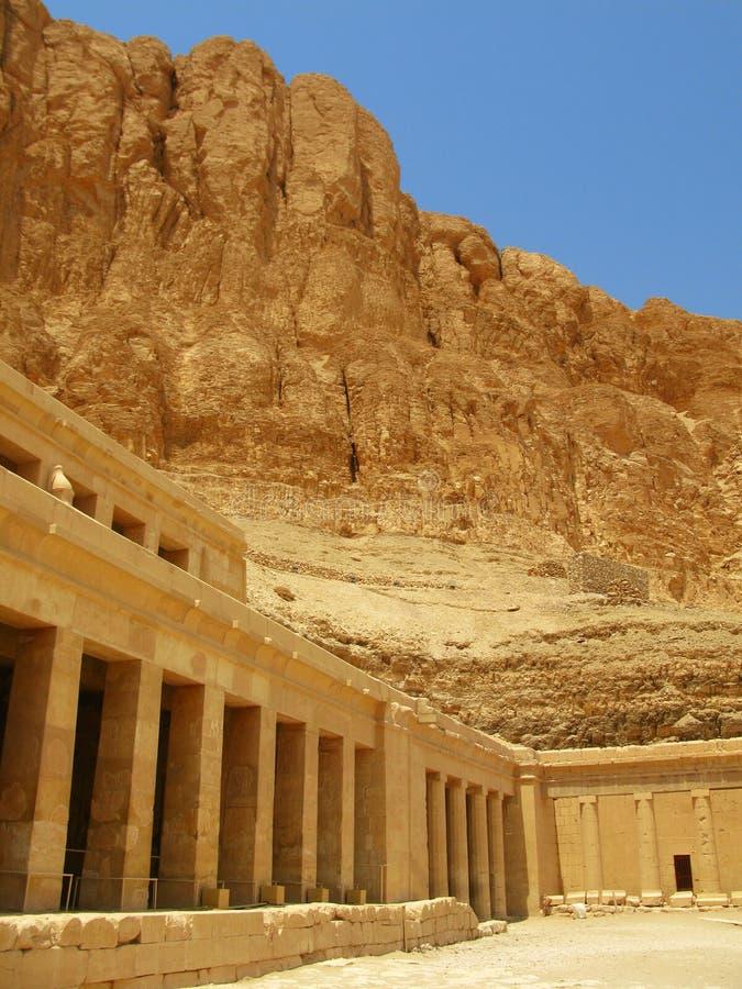 Tempiale della regina Hatshepsut, valle dei re, Luxor immagini stock libere da diritti