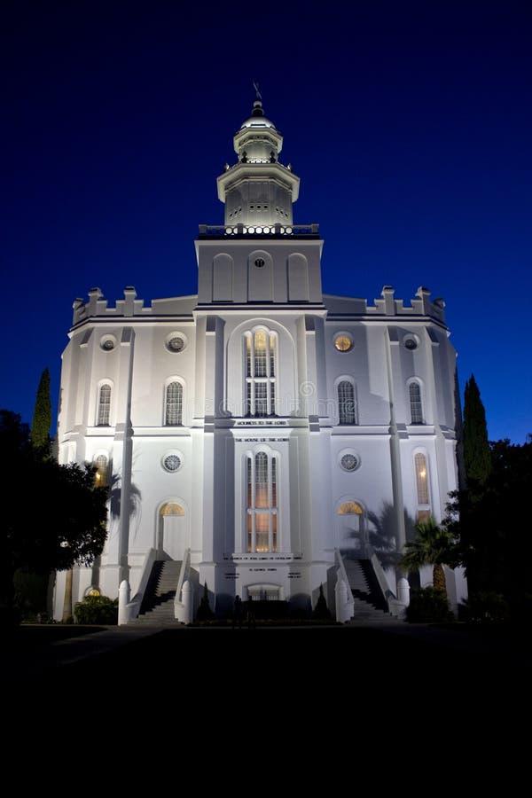 Tempiale della st George di LDS fotografie stock libere da diritti