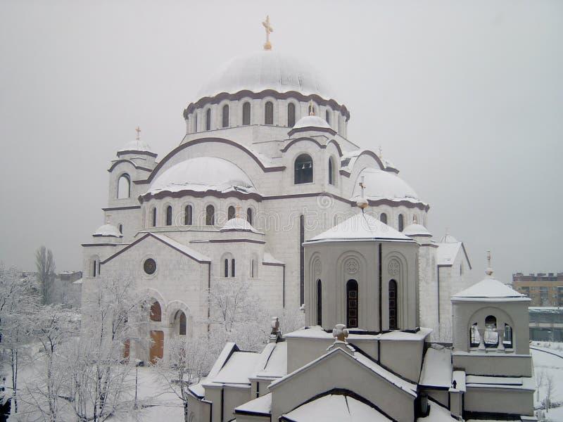Tempiale della st Sava immagini stock libere da diritti