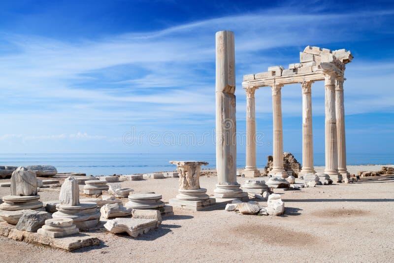 Tempiale delle rovine dell'Apollo fotografie stock