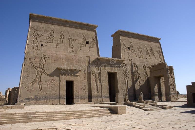 Tempiale delle rovine di Philae, Egitto, destinazione di corsa immagini stock libere da diritti