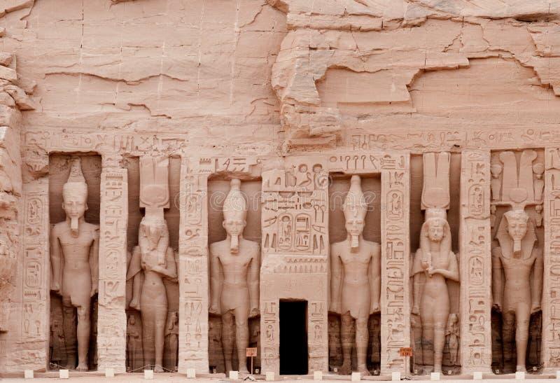 Tempiale di Abu Simbel del hathor (Nefertari), Egitto. immagine stock