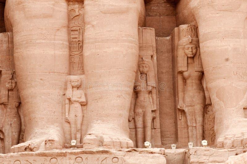 Tempiale di Abu Simbel di Ramses II, Egitto. immagine stock