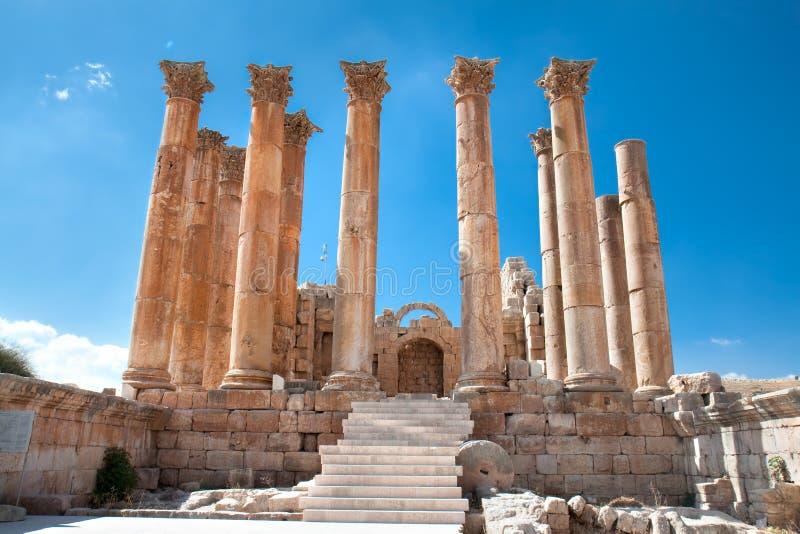 Tempiale di Artemis in Jerash immagini stock libere da diritti