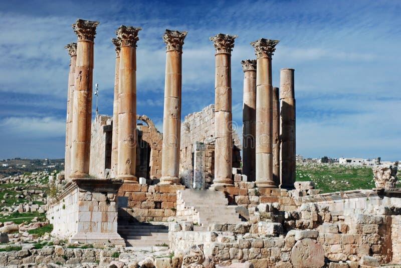 Tempiale di Artemis, Jerash, Giordano immagini stock libere da diritti