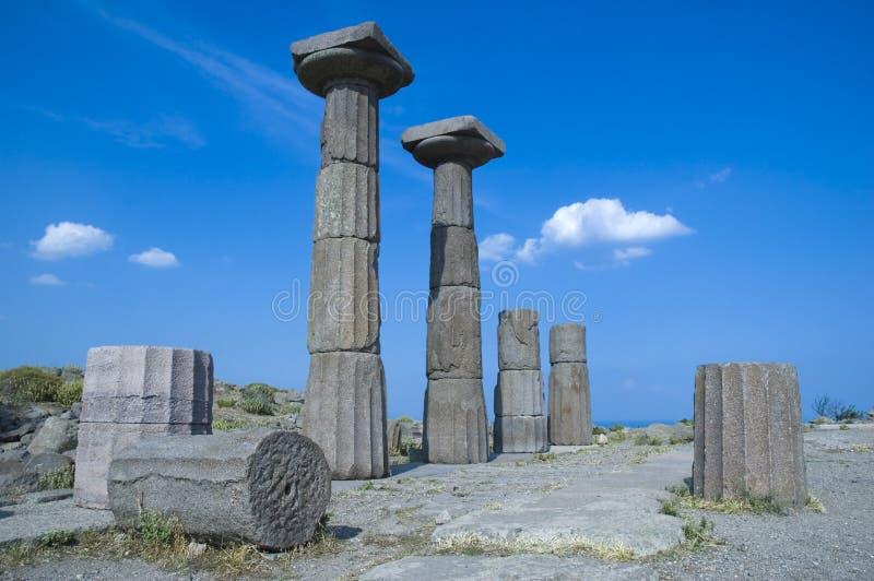Tempiale di Assos di Athena fotografia stock libera da diritti