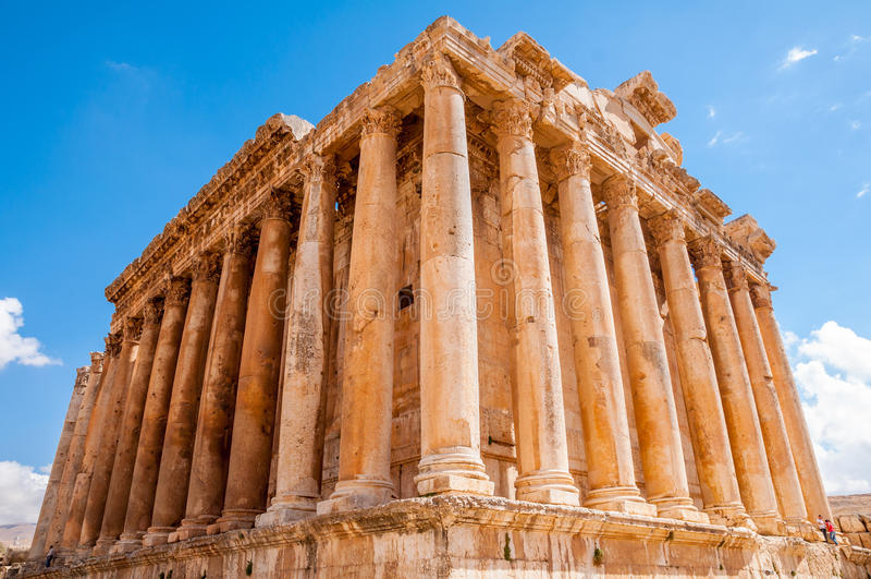 Tempiale di Bacchus a Baalbek, Libano immagini stock
