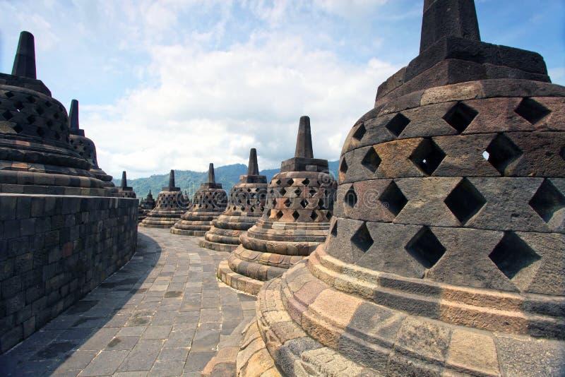 Tempiale di Borobudur, Indonesia fotografie stock libere da diritti