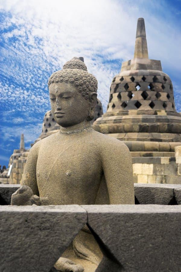Tempiale di Borobudur, Indonesia immagine stock libera da diritti