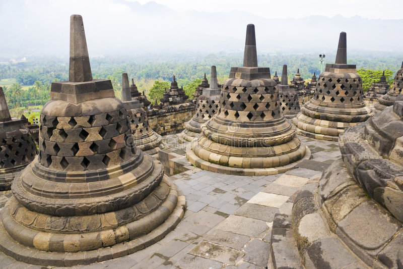 Tempiale di Borobudur, Indonesia immagini stock
