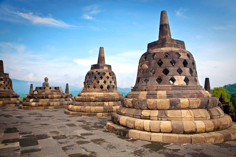 Tempiale di Borobudur a Jogjakarta fotografia stock