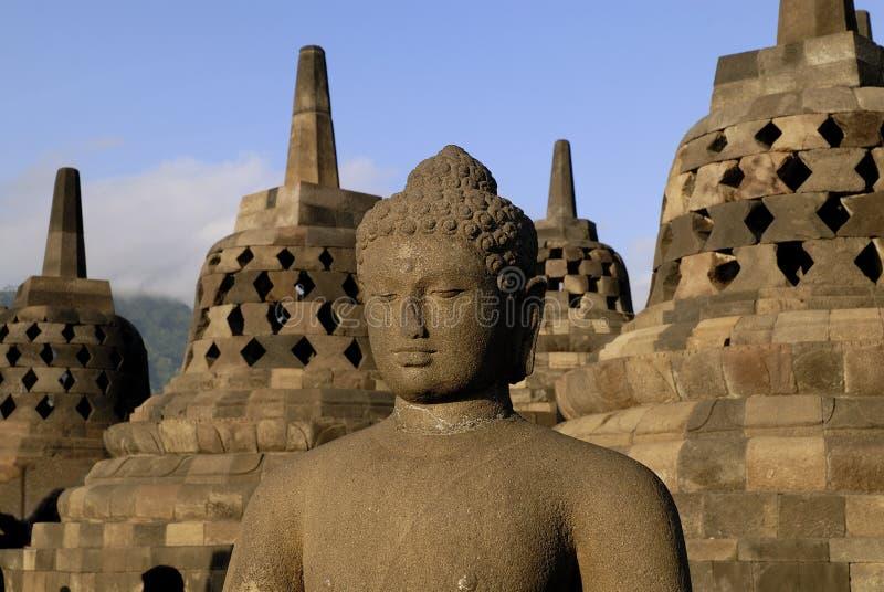 Tempiale di Borobudur a Yogyakarta immagini stock libere da diritti