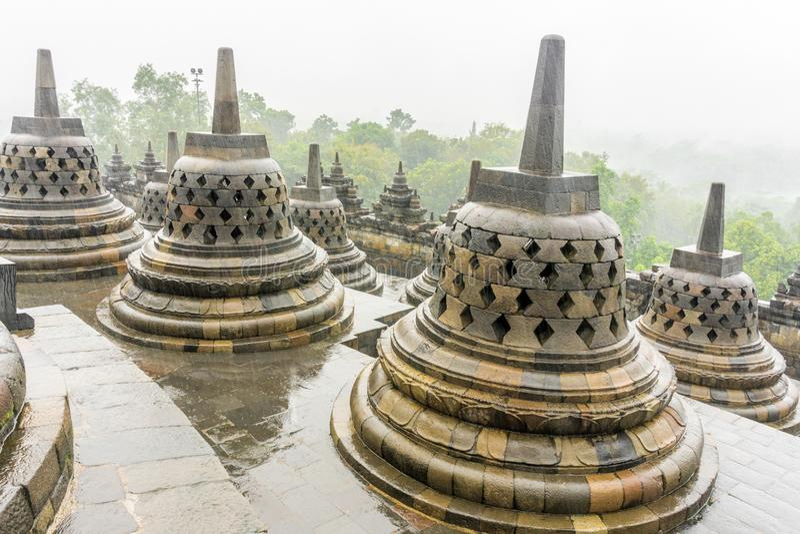 Tempiale di Borobudur a Yogyakarta, Indonesia fotografia stock