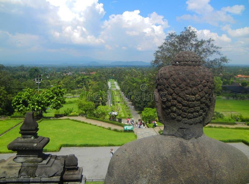 Tempiale di Borobudur, Yogyakarta, Java, Indonesia fotografie stock