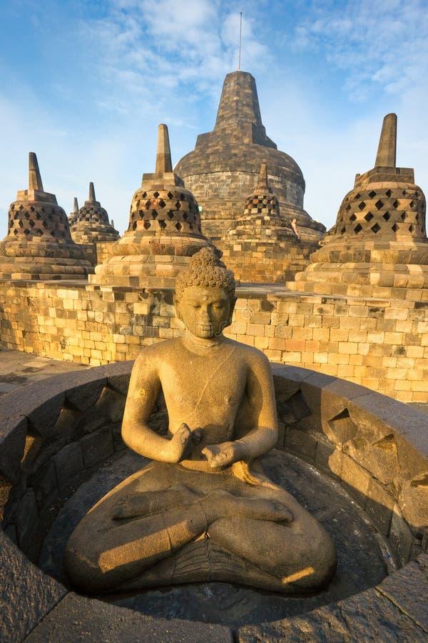 Tempiale di Borobudur, Yogyakarta, Java, Indonesia. immagini stock