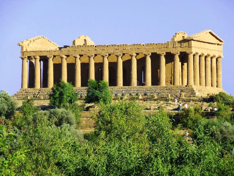 Tempiale di Concordia a Agrigento fotografia stock