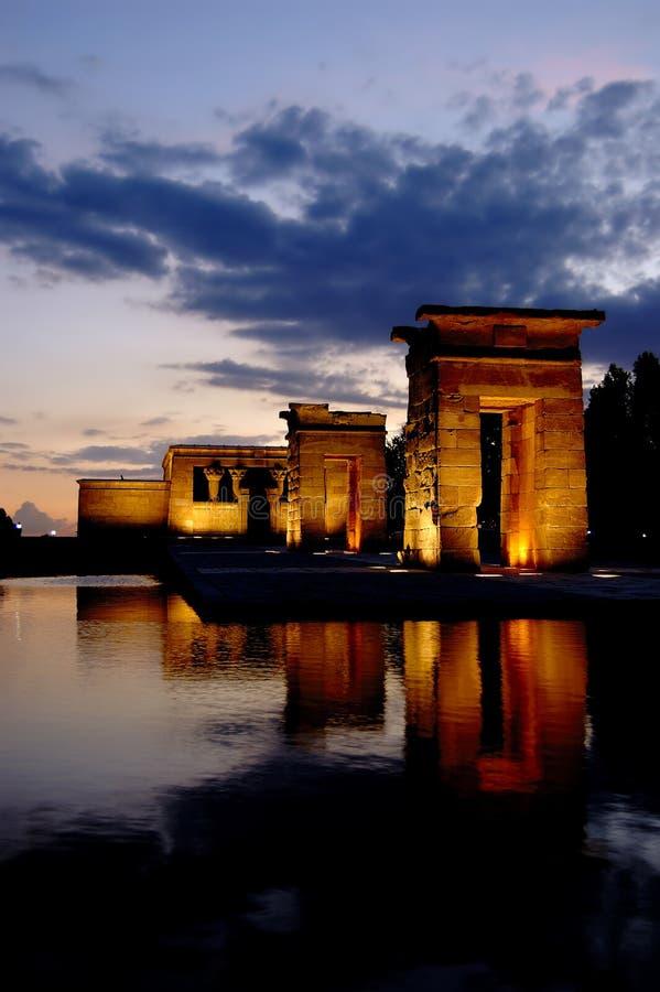 Tempiale di Debod a Madrid fotografie stock