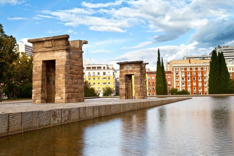 Tempiale di Debod a Madrid fotografia stock