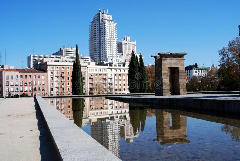 Tempiale di Debod a Madrid immagine stock libera da diritti