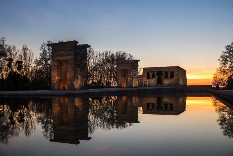 Tempiale di Debod a Madrid immagine stock