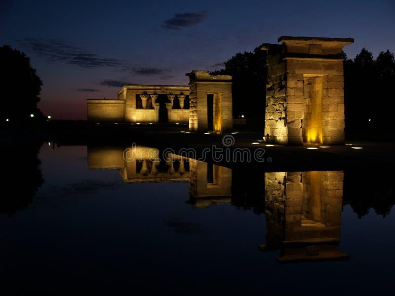 Tempiale di Debod in Spagna immagine stock libera da diritti