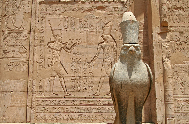 Tempiale di Horus fotografia stock libera da diritti
