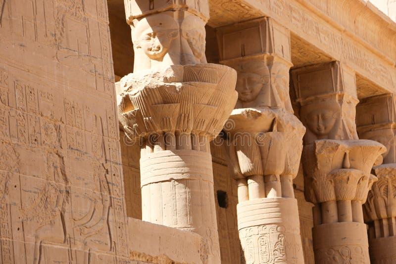 Tempiale di ISIS Philae a Assuan, Egitto fotografia stock libera da diritti