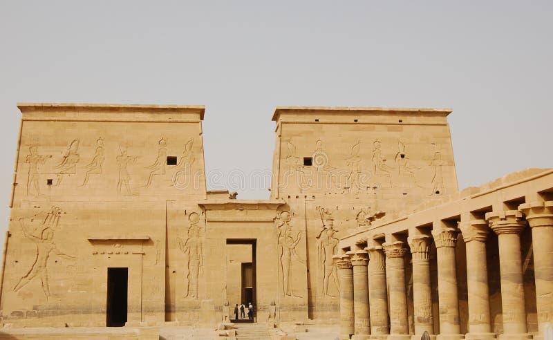Tempiale di ISIS in Philae, Egitto fotografie stock libere da diritti