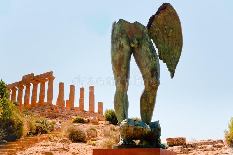 Tempiale di Juno in valle delle tempie, Sicilia fotografie stock libere da diritti